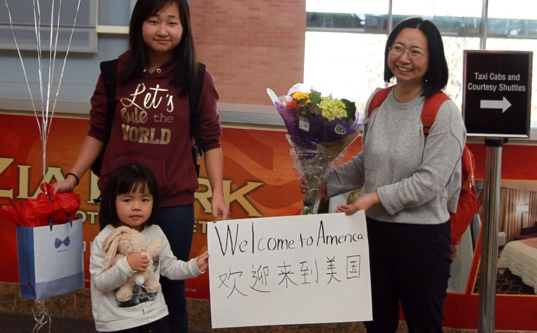 Chen Guiqiu America Arrival